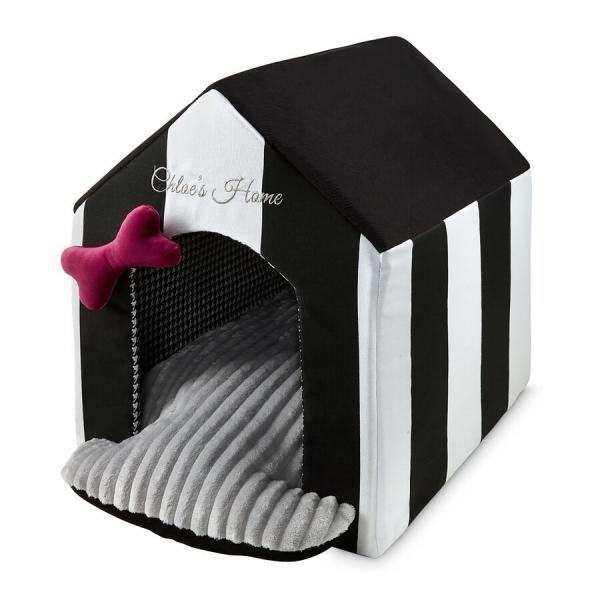 Budka dla psa Monte Carlo w czarno-białe pasy