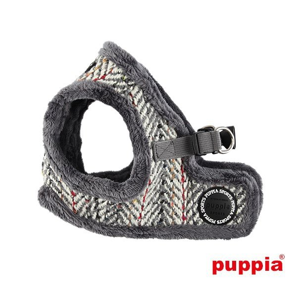 Ocieplane, szare szelki - kamizelka dla psa OZ od Puppia