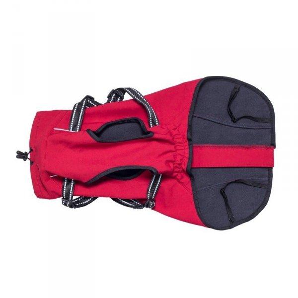 Zimowa kurtka z szelkami CHARLIE czerwona