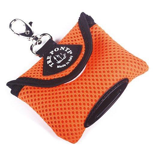 Pojemnik na woreczki higieniczne pomarańczowy