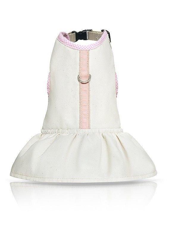 Szelko-sukienka MALIBU biało-różowa dla psa