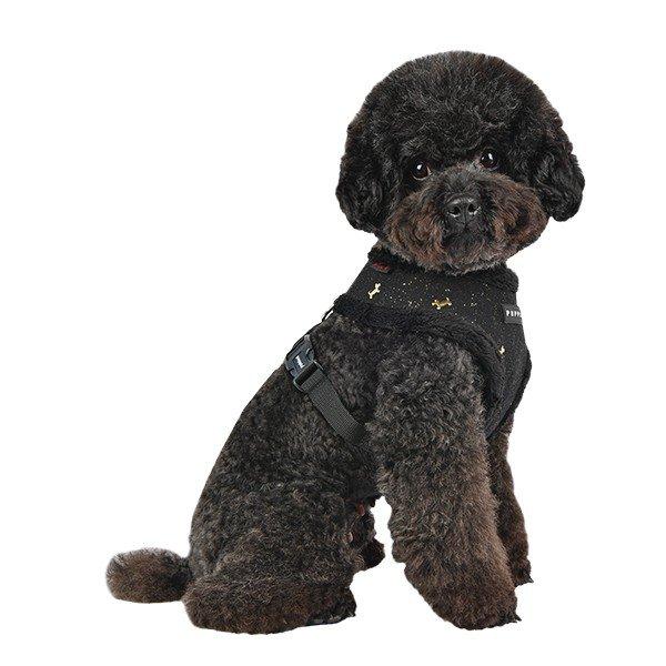 Ocieplane, czarne szelki dla psa od Puppia