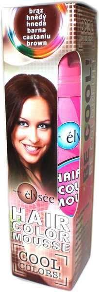 Elysee koloryzujaca pianka do włosów. Kolor brązowy. Nr 74