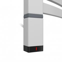 Grzałka One T36x40 Lewy 400W Kolor Silver Mat z Kablem Spiralnym