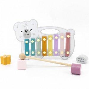 Drewniane Cymbałki Miś Polarny Ksylofon Viga Toys
