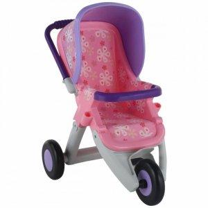 Duży wózek spacerówka  dla lalek fioletowo-różowy QT