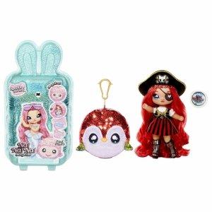 Na! Na! Na! Surprise Sparkle - Lalka Becky Buckaneer i Papuga w balonie z konfetti Seria Cekinowa Pom
