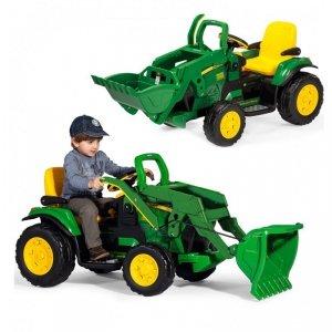 Peg Perego Traktor z łyżką na akumulator John Deere Power Pull koparka