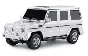Mercedes-Benz G55 1:24 RTR (zasilanie na baterie AA) - Srebrny