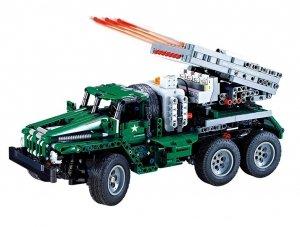 Pojazd wojskowy - do zbudowania z klocków - zdalnie sterowany (1369 klocków)