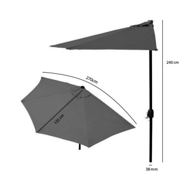 Parasol ogrodowy na taras półparasol 2,7m