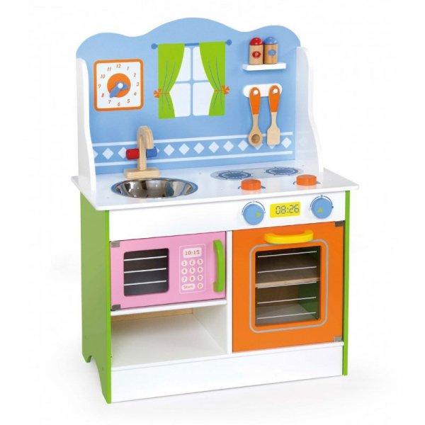 Viga Toys Kuchnia Drewniana Angel Z Akcesoriami