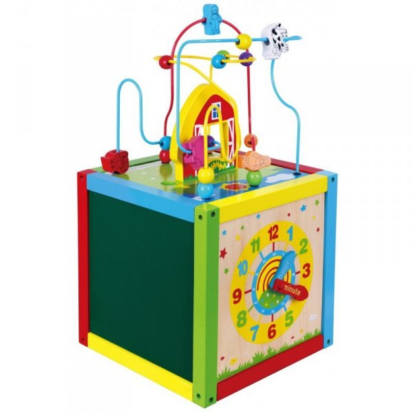 Drewniana Edukacyjna kostka Sześcian 5w1 Viga Toys