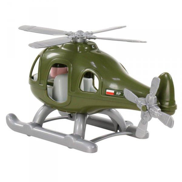 Helikopter Smigłowiec Wojskowy Grzmot Figurka Pilota
