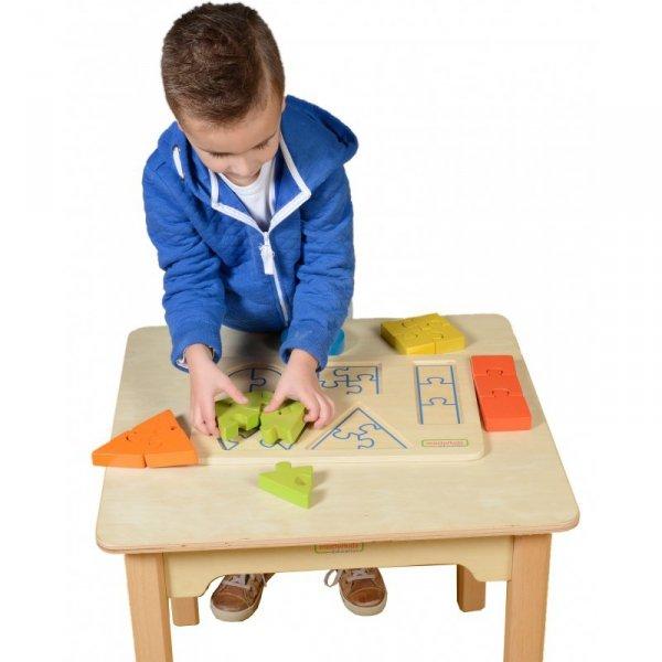 Drewniane Puzzle Dla Dzieci Nauka Kształtów Figury Geometryczne Masterkidz