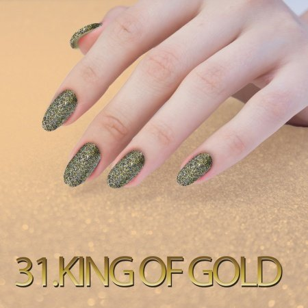 31. SEQUIN QUARTZ EFFECT - KING OF GOLD