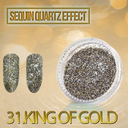 31.Sequin Quartz Effect - King of Gold