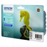 Epson oryginalny wkład atramentowy / tusz C13T04874010. CMYK/light C/light M. 6x13ml. Epson Stylus Photo R200. 300. 320. 340. RX500. 600. 640. photo mu C13T04874010
