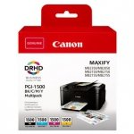 Canon oryginalny ink PGI-1500 BK/C/M/Y Multipack, CMYK, 400/3*300s, 9218B005, Canon MAXIFY MB2050,MB2150,MB2155,MB2350,MB2750,MB27 9218B005