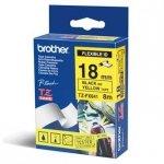 Brother oryginalna taśma do drukarek etykiet. Brother. TX-641. czarny druk/żółty podkład. laminowane. 8m. 18mm TX641
