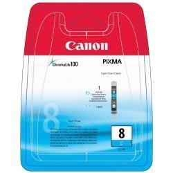 Canon oryginalny wkład atramentowy / tusz CLI8C. cyan. 420s. 13ml. 0621B028. 0621B006. blistr z ochroną. Canon iP4200. iP5200. iP5200R. MP500. MP800 0621B028
