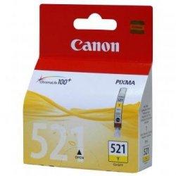 Canon oryginalny wkład atramentowy / tusz CLI521Y. yellow. 505s. 9ml. 2936B008. 2936B005. blistr z ochroną. Canon iP3600. iP4600. MP620. MP630. MP980 2936B005