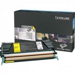 Lexmark oryginalny toner C5222YS. yellow. 3000s. Lexmark C52x. C53x C5222YS