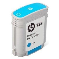 HP oryginalny wkład atramentowy / tusz F9J63A. No.728. cyan. 40ml. HP DesignJet T730. DesignJet T830. DesignJet T830 MFP