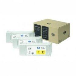 HP oryginalny wkład atramentowy / tusz C4933A. No.81. yellow. 680ml. HP DesignJet 5000. PS. UV. 5500. PS. UV C4933A