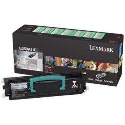Lexmark oryginalny toner E250A11E. black. 3500s. return. Lexmark E250. E35x