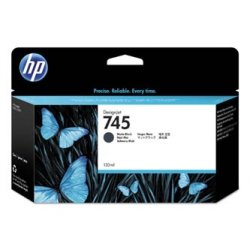 HP oryginalny wkład atramentowy / tusz F9J99A, No. 745, matte black, 130ml, HP DesignJet HD Pro MFP, DesignJet Z2600, Z5600 F9J99A