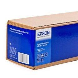 Papier do plotera Epson 610/12.2/WaterResistant Matte Canvas Roll. 610mmx12.2m. 24. C13S042014. 375 g/m2. papier. biały. do drukarek atramentowych