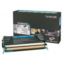 Lexmark oryginalny toner C734A1CG. cyan. 6000s. return. Lexmark C734. C736. X734. X736. X738 C734A1CG