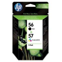 HP oryginalny wkład atramentowy / tusz SA342AE. No.56 + No.57. black/color. 520/500s. 2szt. HP 2-Pack. C6656 + C6657 SA342AE