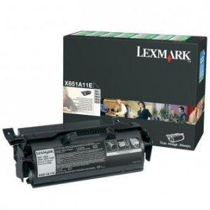Lexmark oryginalny toner X651A11E. black. 7000s. return. Lexmark X651. X652. X654. X656. X658 X651A11E