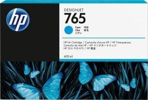 HP 765 Cyan 400ml. oryginalny wkład atramentowy / tusz do plotera Designjet T7200 błękitny F9J52A