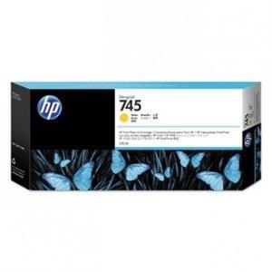 HP oryginalny wkład atramentowy / tusz F9K02A, No. 745, yellow, 300ml, HP DesignJet HD Pro MFP, DesignJet Z2600, Z5600 F9K02A