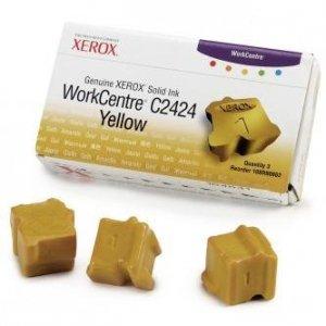 Xerox oryginalny wkład atramentowy / tusz 108R00662. yellow. 3400s. Xerox WorkCentre C2424 Malibu. 3szt 108R00662