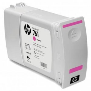 HP oryginalny wkład atramentowy / tusz CM993A. magenta. 400ml. No.761. HP DesignJet T7100 CM993A