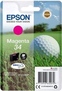 Epson oryginalny ink / tusz C13T34634020, T346340, magenta, z zabezpieczeniem, 4.2ml, Epson WF-3720DWF, 3725DWF