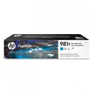 HP oryginalny wkład atramentowy / tusz L0R13A. No.981Y. cyan. extra duża pojemność. HP PageWide MFP E58650. 556. Flow 586 L0R13A