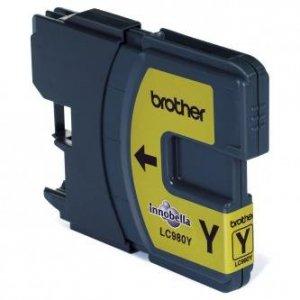 Brother oryginalny wkład atramentowy / tusz LC-980Y. yellow. 260ml. Brother DCP-145C. 165C LC980Y