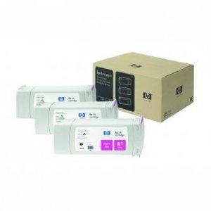 HP oryginalny wkład atramentowy / tusz C5068A. No.81. magenta. 3x680ml. 3szt. HP DesignJet 5000. PS. UV. 5500. PS C5068A
