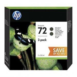 HP oryginalny wkład atramentowy / tusz P2V33A, No. 72, matte black, HP DesignJet T1300, T790, T795 P2V33A