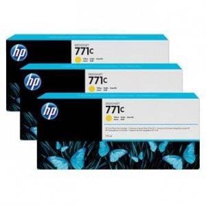 HP oryginalny wkład atramentowy / tusz B6Y34A. No.771C. yellow. 3szt. HP Designjet Z6200 B6Y34A