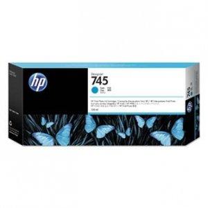 HP oryginalny ink F9K03A, HP 745, cyan, 300ml, HP DesignJet HD Pro MFP, DesignJet Z2600, Z5600 F9K03A