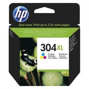 HP oryginalny ink N9K07AE, HP 304XL, Tri-color, blistr, 300s, 7ml, HP DeskJet 2620,2630,2632,2633,3720,3730,3732,3735 N9K07AE#301
