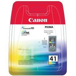 Canon oryginalny wkład atramentowy / tusz CL41. color. 180s. 3x4ml. 0617B032. 0617B006. blistr z ochroną. Canon iP1600. iP2200. iP6210D. MP150. MP170 0617B032