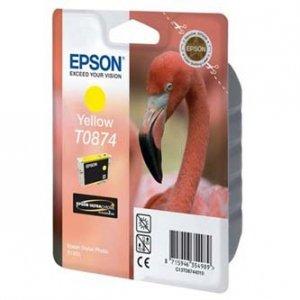 Epson oryginalny wkład atramentowy / tusz C13T08744010. yellow. 11.4ml. Epson Stylus Photo R1900 C13T08744010