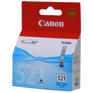 Canon oryginalny wkład atramentowy / tusz CLI521C. cyan. 505s. 9ml. 2934B009. 2934B005. blistr z ochroną. Canon iP3600. iP4600. MP620. MP630. MP980 2934B009